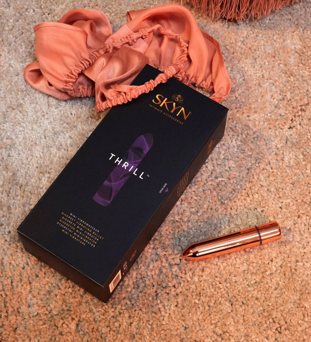SKYN® Thrill Discrete Vibrating Bullet + FREE SKYN® Natural Harmony personal Lubricant 80Ml