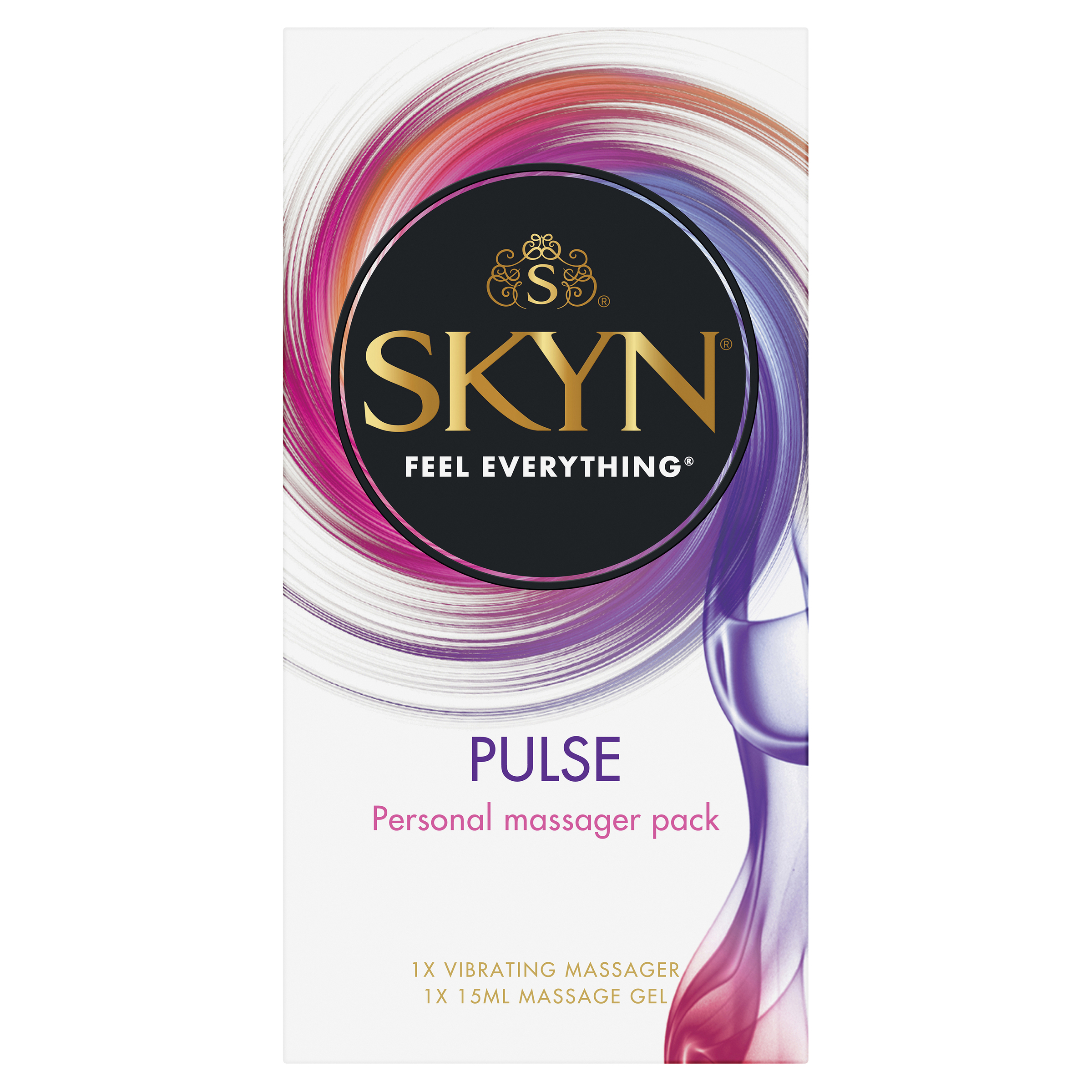 SKYN® Personal Massager Pack - Contains 1 SKYN® Pulse Massager + 15ml SKYN® Sensual Touch Massage Gel