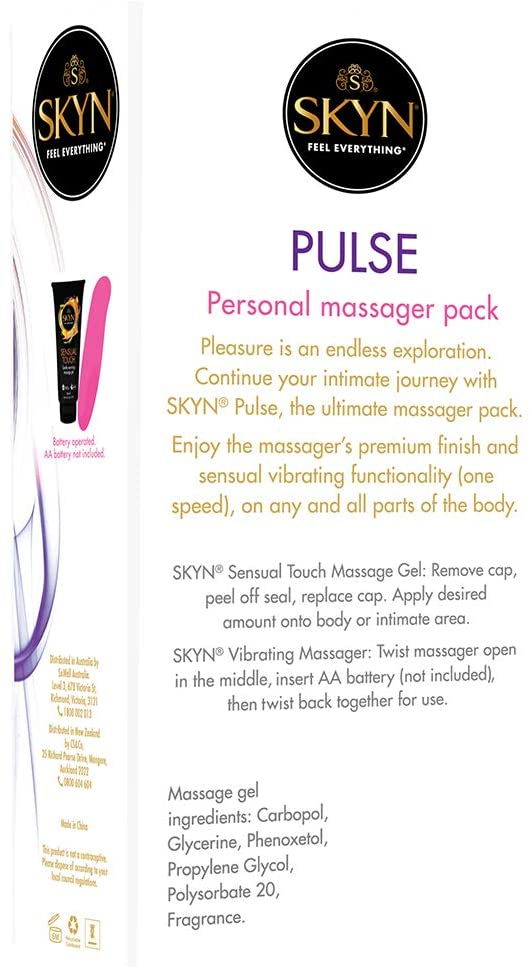 SKYN® Ultimate Massager Pack - Contains 1 SKYN® Pulse Massager + 1 SKYN® Sensual Touch Massage Gel